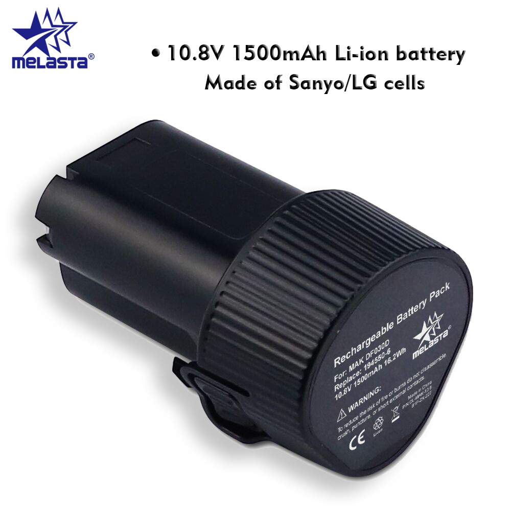 MELASTA 10.8V 1500mAh Li-ion Battery with Brand Cells For Makita BL1013 BL1014 TD090D TD090DW DF030D LCT203W 194550-6 194551-4 4x battery for makita 10 8v 10 8 volt bl1013 bl1014 td090d td090dw lct203w 194550 6 194551 4li ion electric power tool charger