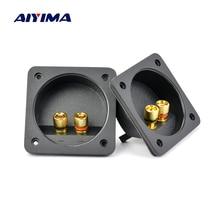 AIYIMA 2 шт. ABS пластик позолоченный Медь Клеммная плата энтузиастов 80x80 мм DIY динамик распределительная Тяговая коробка