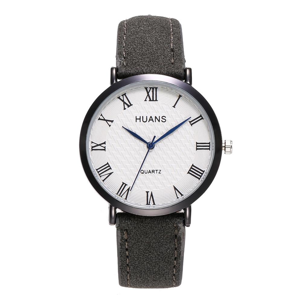 27dac387a32b Cargando zoom. 2018 Newest Fashion Casual Men s Watches Classic Roman  Numerals Dial Leather Strap Reloj Male Simple Men Quartz Wrist Watch -  Online Shopping ...