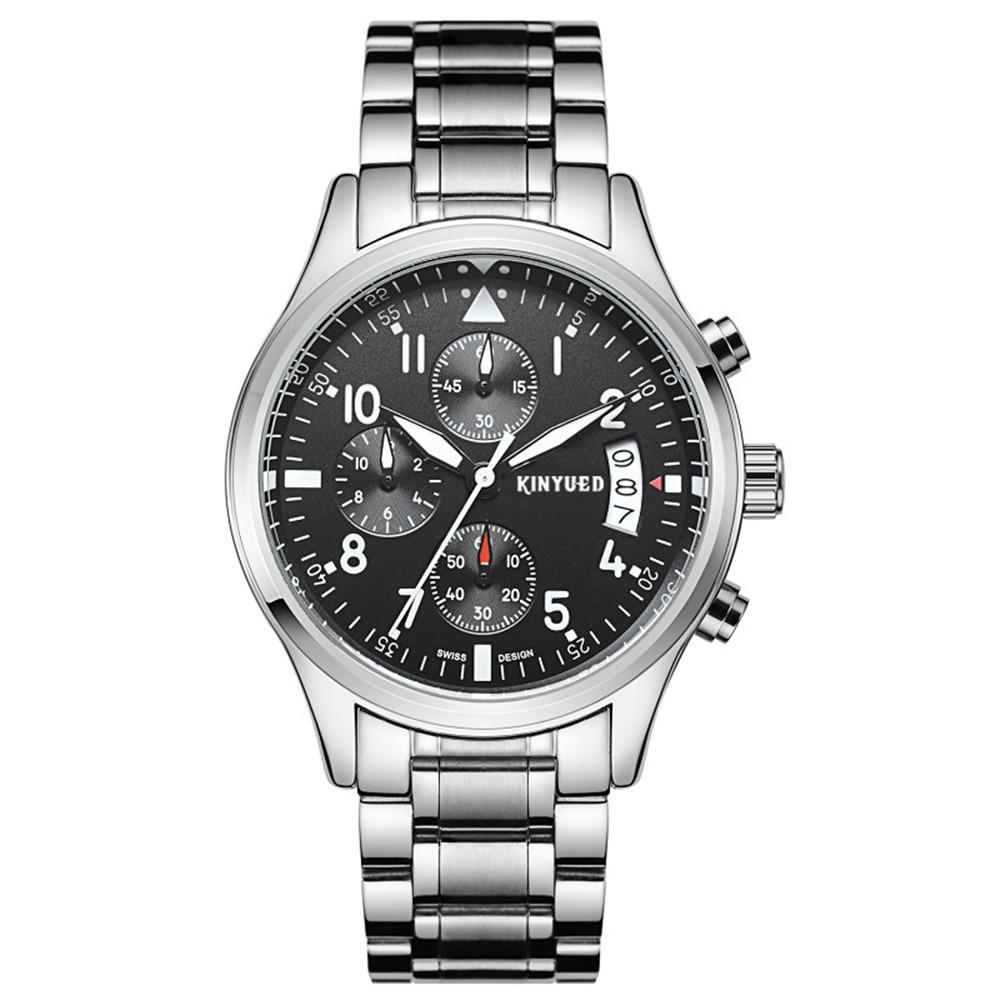 Marca de lujo KINYUED Relojes para hombres, Multifuncional Movimiento - Relojes para hombres - foto 4