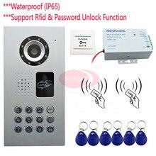 IP65 Rfid+Password Video Door Phone Outdoor unit Intercom Door CCD Camera 700lines Outdoor Camera+Access Control Power Supply