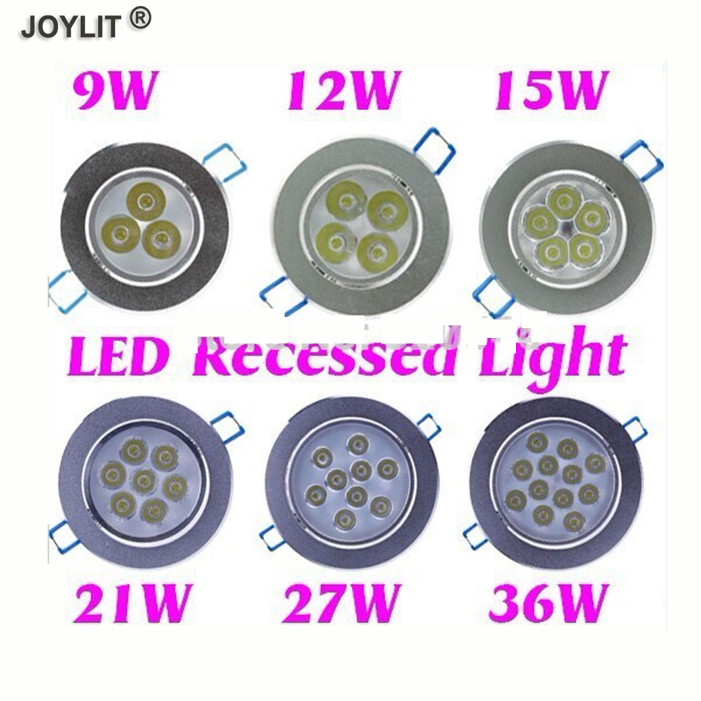 9W 12W 15W 21W 27W 36W Cold Warm White LED Recessed Cabinet Ceiling Downlight light AC100-245V For Home Lighting Decoration