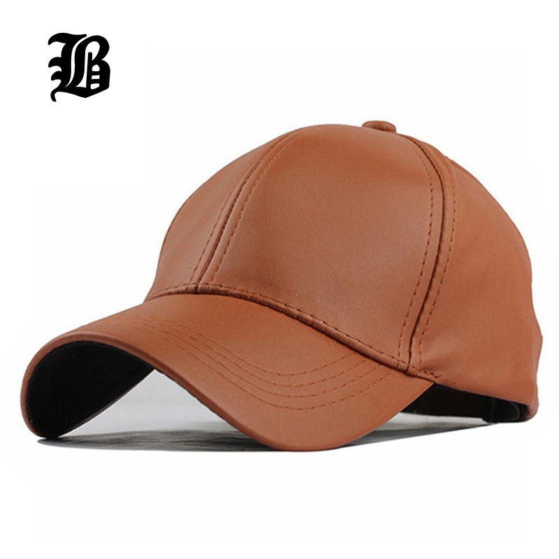 [FLB] Wholesale New Winter PU Leather Caps Baseball Cap Biker Trucker casquette Snapback Hats For Men Women Hats And Caps