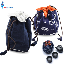 Upspirit Traveling Storage Bag for Tea Pot and Tea Cup Drawingstring W