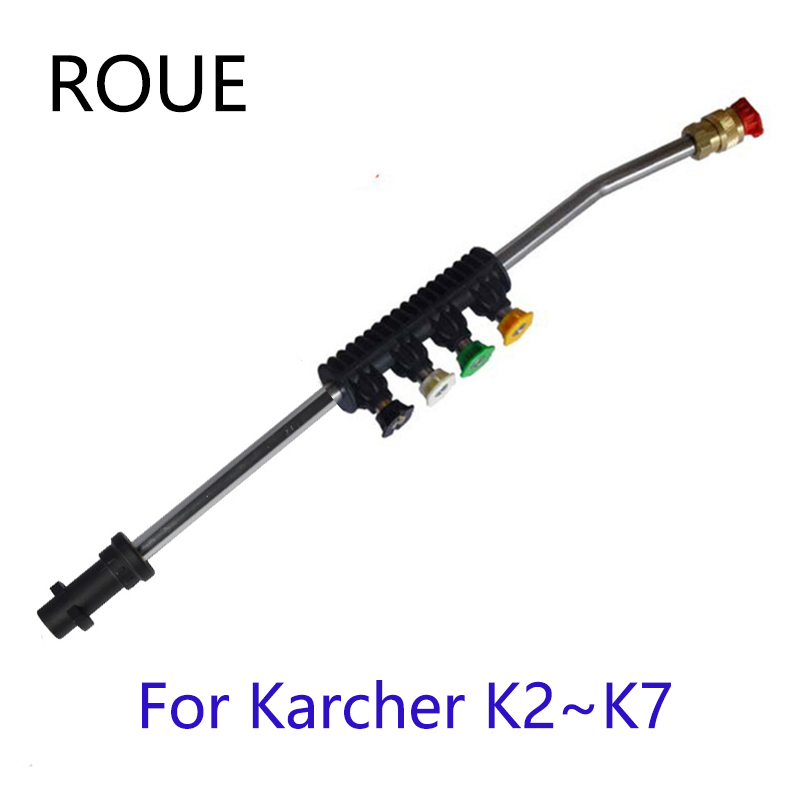For Karcher K1 K2 K3 K4 K5 K6 K7 High Pressure WashersCar Washer Metal Jet Lance Nozzle With 5 Quick Nozzle Tips