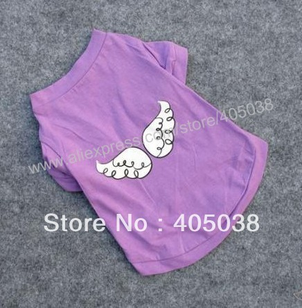 purple  Angel wings Pet clothes dog clothes t-shirts pet product pet apparel