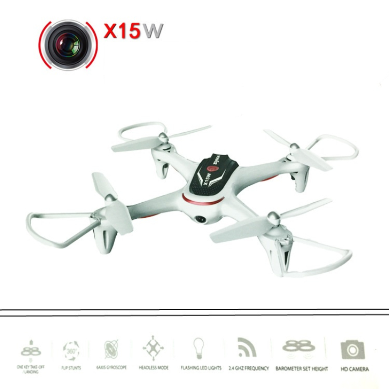 Wifi fpv rc drone X15w 2.4G 4ch 6 Axis APP control attitude hold One Key return rc remote control quadcopter toys with HD Camera 2016 newest 2 4g 4ch 6 axis gyro wifi fpv camera rtf rc quadcopter with one key return cf mode 3d flip high hold mode rc drone
