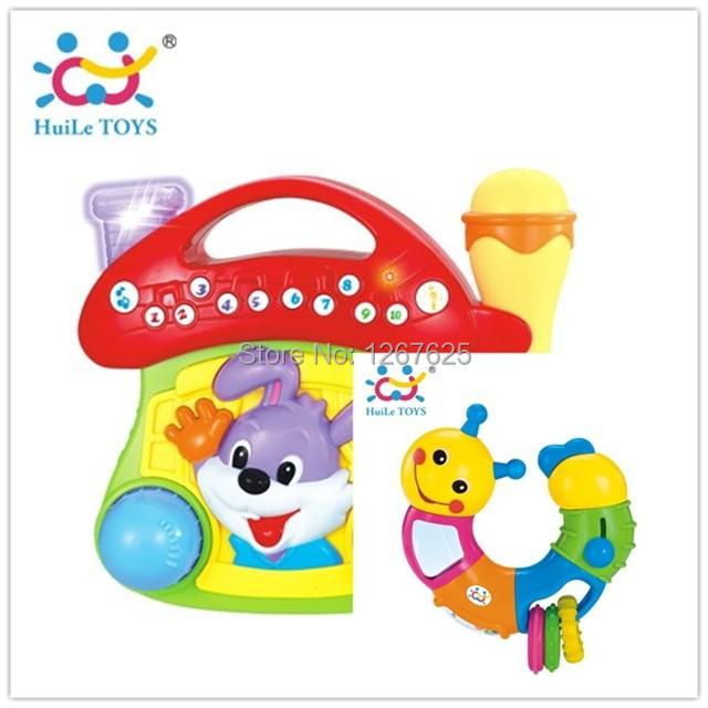 Instrumentos Musicais quebra-cabeça Chocalho Jukebox Brinquedo Bebe chocalhos frete grátis Huile brinquedos 668 mf-786b