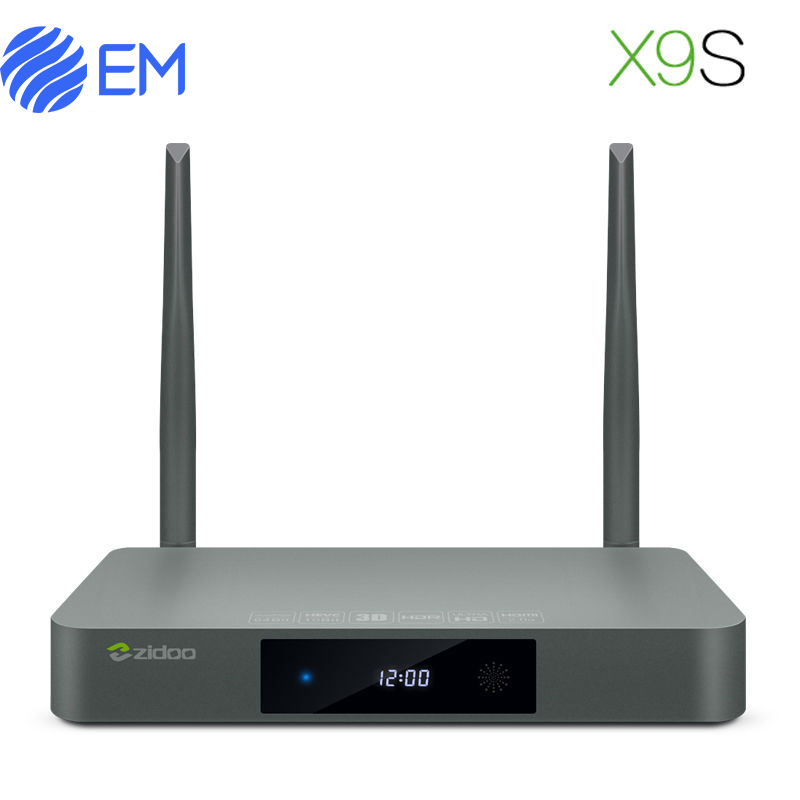 Original  ZIDOO X9S original  Android 6.0 TV Box Realtek RTD1295 Quad Core 2G/16G HDMI OUT/IN KODI Smart TV Europe Media Player zidoo x6 pro 4k2k h265 smart android 51