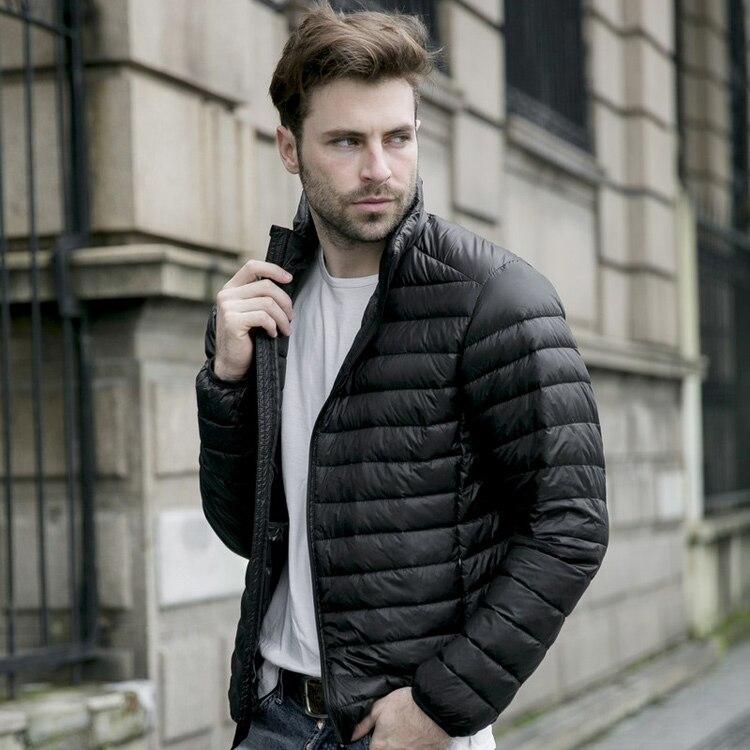 2017 New Winter Down Jacket Men 90% White Duck Down Coat Ultralight Down Jacket Male Windproof Warm Down jackets
