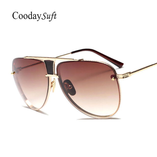 CVOO Sunglasses Men Women Luxury Brand Rimless Fashion Sunglasses Square Mirror Sun Glasses High Quality Shades Glasses UV400 CjnpMiZo