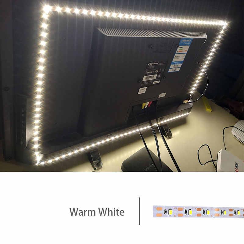 USB Kabel Power DC5V LED strip licht lamp SMD 2835 0.5 M 1 M 2 M 3 M 4 M 5 M Kerst bureau Decor lamp tape Voor TV Achtergrond Verlichting