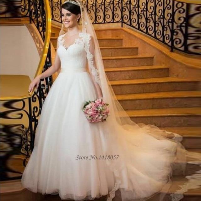 vestido de noiva romantico blanco antiguo vestido de boda 2016