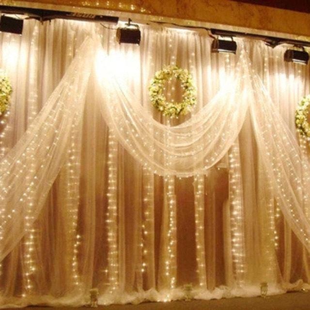6m Icicle LED Curtain Lights LED STRING Fairy Lights Cortina De Led ...