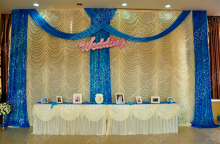 Wedding supplies wedding stage curtain party drapery venue stage decor backdrops for wedding