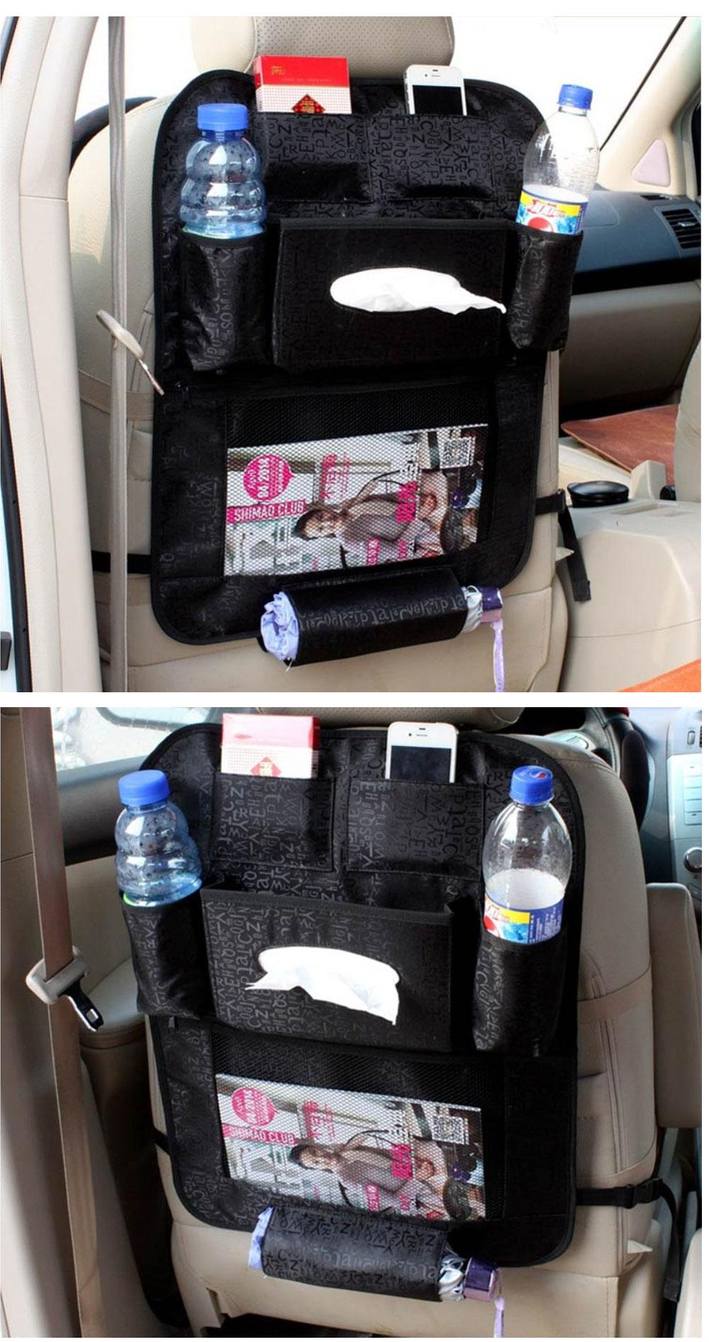 Car Organizer waterproof Car seat covers protector mat Car Storage Bags Seat Back Protector Case Cover Multi-Purpose 3
