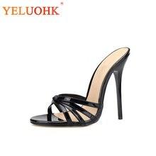 438a9d5f81 37-50 Extrema Sexy Sandálias de Salto Alto Mulheres Tamanho Grande 2018 Mulheres  Sapatos de