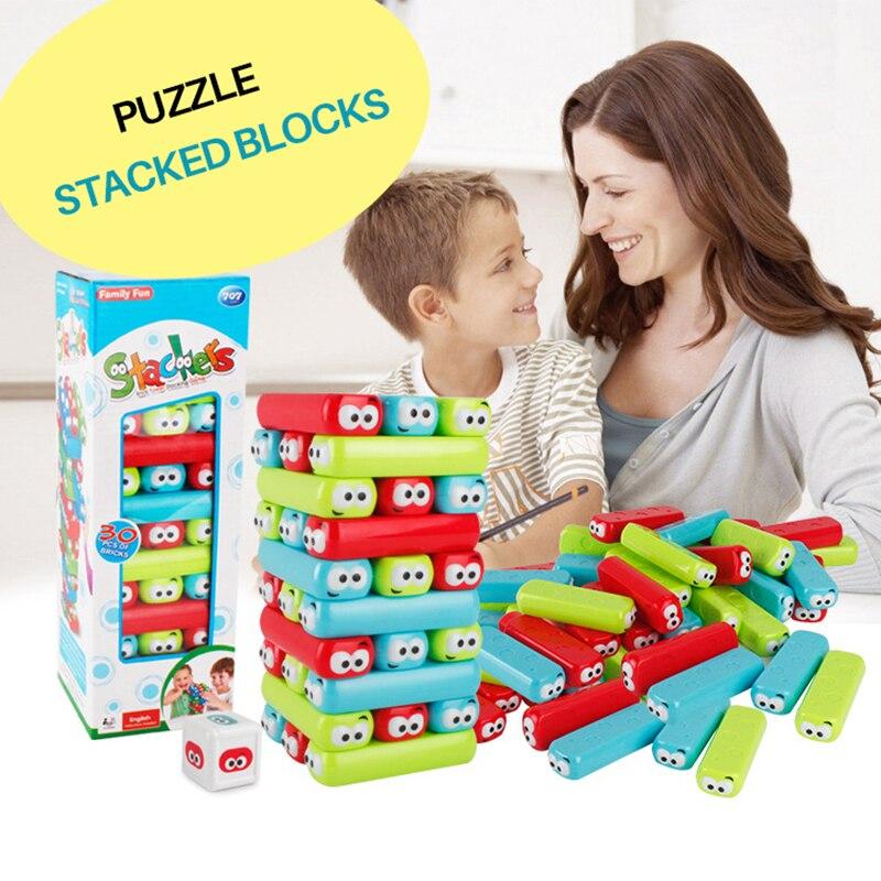 Jenga Piles Haute Niveau Empilés Blocs Éducatifs Enfants de Jouet Puzzle Conseil Jeux Parent-enfant Interaction Empiler des Blocs