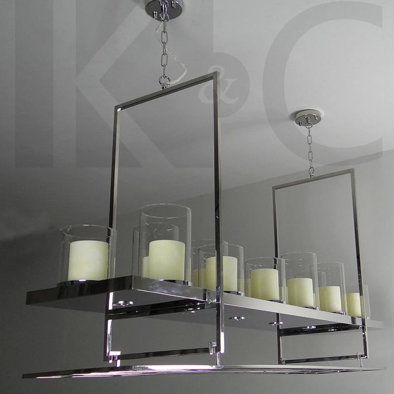Wine rack chandelier design decoration kc wine rack hanging lamps villa hotel bar stainless steel bar rectangular candlestick candle aloadofball Images
