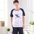 2017 - Men's papercranes pattern Blue color summer Sleepwear