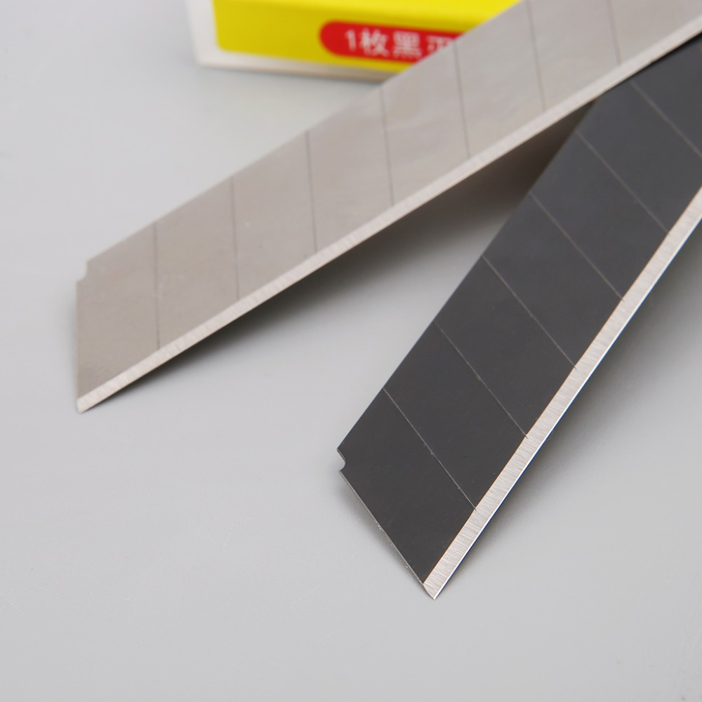 10pcs 60 Degree Ultra Sharp Snap Off Replacement Razor Blades 18mm Heavy Duty Blade Utility Knife Tools Carbon Steel NB-50