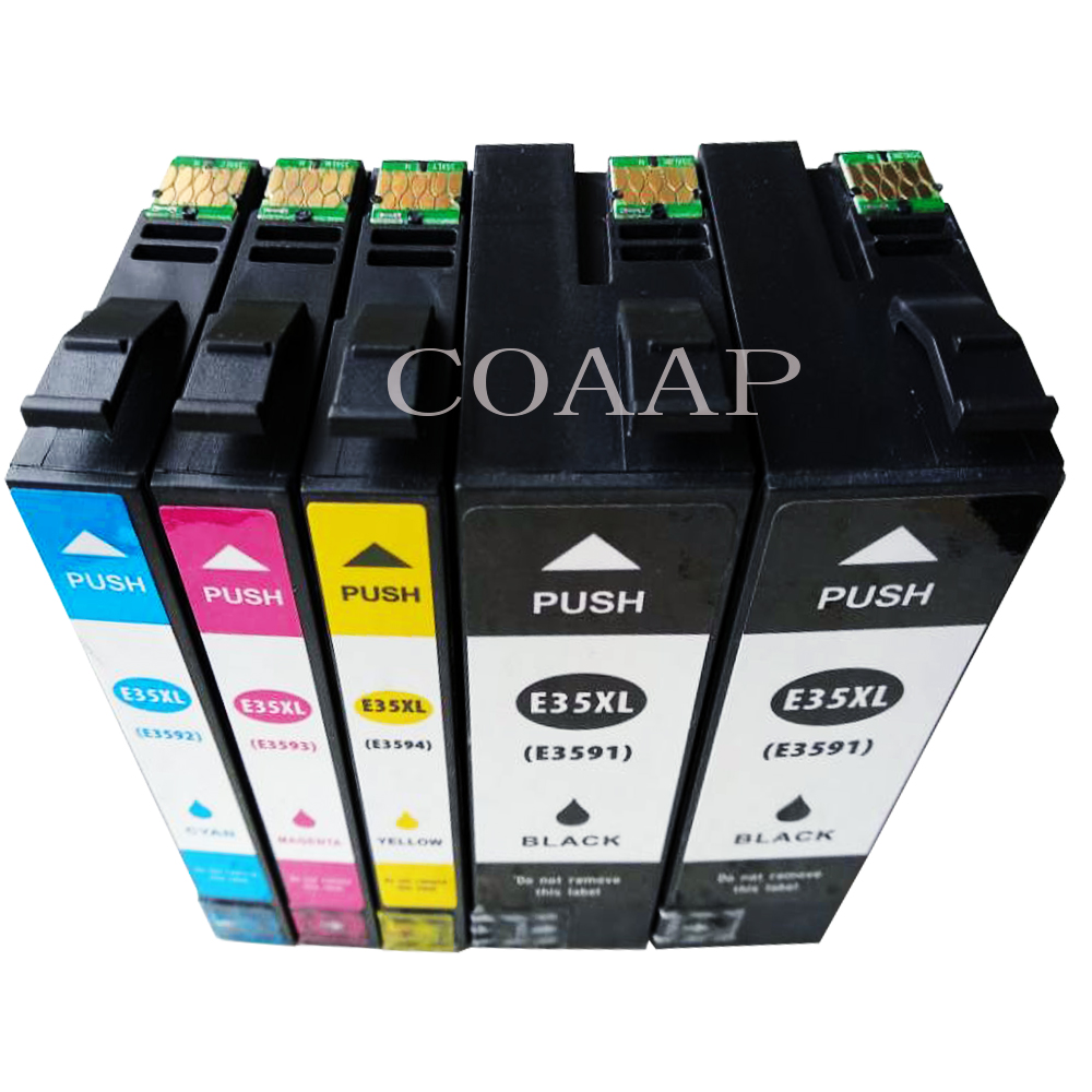 5PK Compatible EPSON T3591 3594 35XL ink cartridge for WorkForce Pro WF 4720DWF 4725DWF 4730DTWF 4730DWF