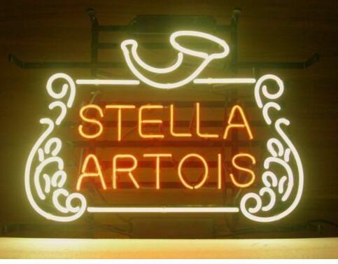 Custom Made STELLA ARTOIS Glass Neon Light Sign Beer Bar