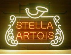 Wykonane na zamówienie STELLA ARTOIS szkło znak światła Neon Beer Bar