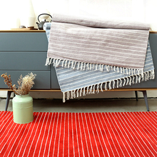 100%コットンカーペットリビングルームティーテーブル洗濯機付きスエードフロアマット寝室ベッドクッションインド輸入手編み敷物