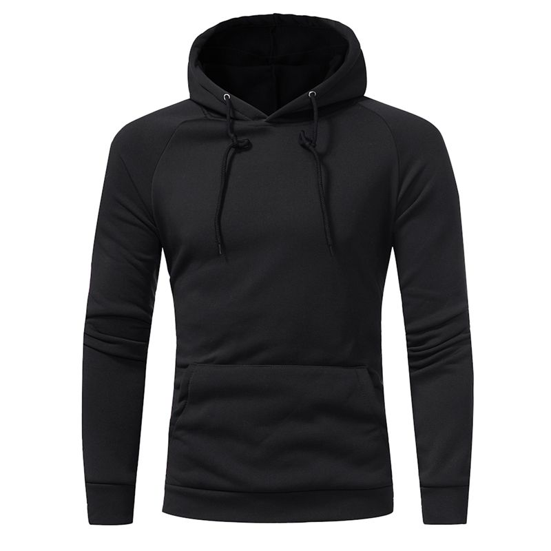 New men 39 s brand solid color high collar hooded hoodie autumn and winter men 39 s pullover fashion casual long sleeved sweatshirt in Hoodies amp Sweatshirts from Men 39 s Clothing