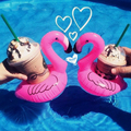 10 pcs Inflatable Flamingo Coasters Palm Tree Pool Party Decorations Swim Floats Hawaiian luau party Vinyl inflatable