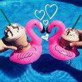 10 pcs coasters flamingo inflável palm tree decorações da festa de piscina nadar flutua festa luau havaiano inflável de vinil