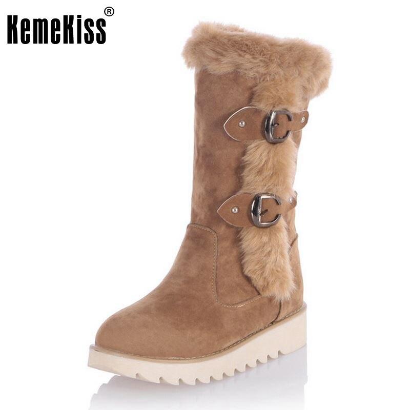 где купить  Size 31-43 Gladiator Snow Boots Women Flats Half Short Boot Ladies Warm Plush Winter Mid Calf Boots Footwear Shoes Woman  дешево