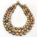 16 inches 14-16mm Natural Nucleated Rarindrop Large Baroque Pearl Loose Strand