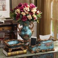 Large European Vase Three Sets Of Luxury Decoration Home Furnishing Fruit Dish Ashtray Set Jewelry Box