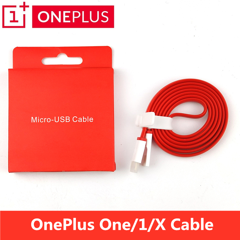 ONEPLUS One Charger Cable 100cm Red noodles Micro Usb Date Line Charge One Plus X/1 Mobi ...