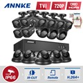 Kit 16CH DVR AHD 1080 P AHD CCTV Sistema 16CH Dvr + 2.0MP cámara Exterior de INFRARROJOS/Cúpula AHD Sistema de cámara P2P Soporte VISTA