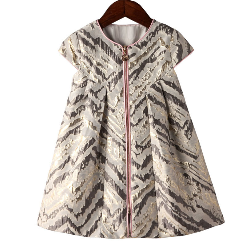 Bongawan New 2017 Kids Autumn Winter Dresses for Baby Girls Princess Dress Children Fashion zipper Casual Clothing 3-12 Years cute rabbit baby girls princess dress sleeveless autumn winter dresses for toddler 2 8yrs children clothing dress with 3d carrot page 1