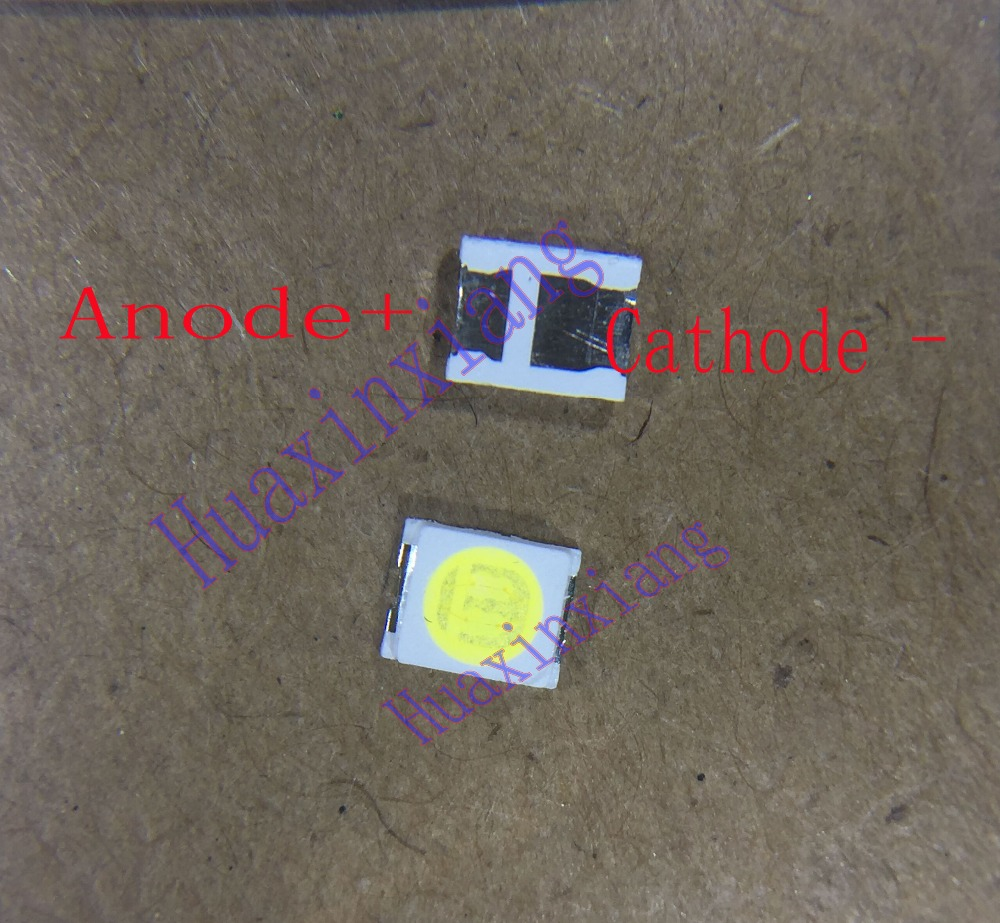 100pcs/Lot Jufei 1W 2835 3V SMD LED 3528 88LM Cool white For TV/LCD Backlight Application