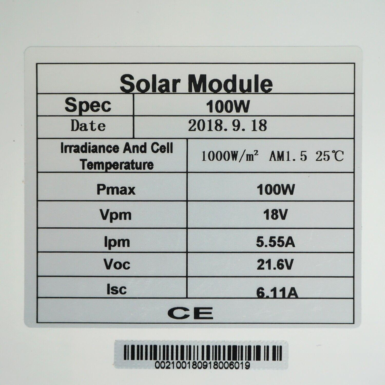 Image 3 - ECOworthy 100 Вт Солнечная Система питания: 100 Вт моно солнечная панель питания и 20A ЖК контроллер и 5 м черный красный Кабели Зарядка для 12 В батареи-in Солнечные энергосистемы from Бытовая электроника