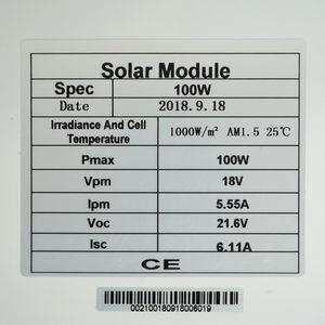 Image 3 - Система солнечной энергии ECOworthy 100 Вт: Моно панель солнечной энергии 100 Вт, ЖК контроллер 20 А, черные и красные Кабели 5 м для зарядки батареи 12 В