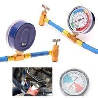 Vehemo Réfrigérant R134A Recharge Tuyau Pouvez Taper Gauge Air Conditionné Inspection de Pipelines Raccord avec En Laiton