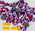 Ss6, Ss10, Ss16, Ss20, Ss30 Siam AB alta qualidade DMC ferro em vidro pedrinhas / Hot fix cristal pedrinhas