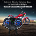 СВЕТОДИОДНЫЙ Цифровой Подсветка Мотоцикл Пробега Спидометр Тахометр шаблон для Honda Suzuki HAOJIANG