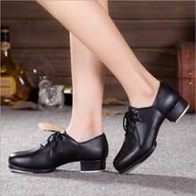 b0dadd78d6 Oxford Rendas Até Couro Preto Adulto Profissional   PU Homens Tocar Sapatos  De Dança Meninas Mulheres Sapatos de Sapateado