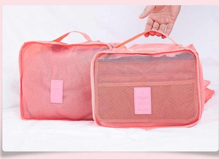Не пропустите Новые 6 шт./компл. высокого качества Oxford Тканевые для путешествий Сетчатая Сумка в сумке органайзер для багажа Упаковка объемный органайзер для одежды
