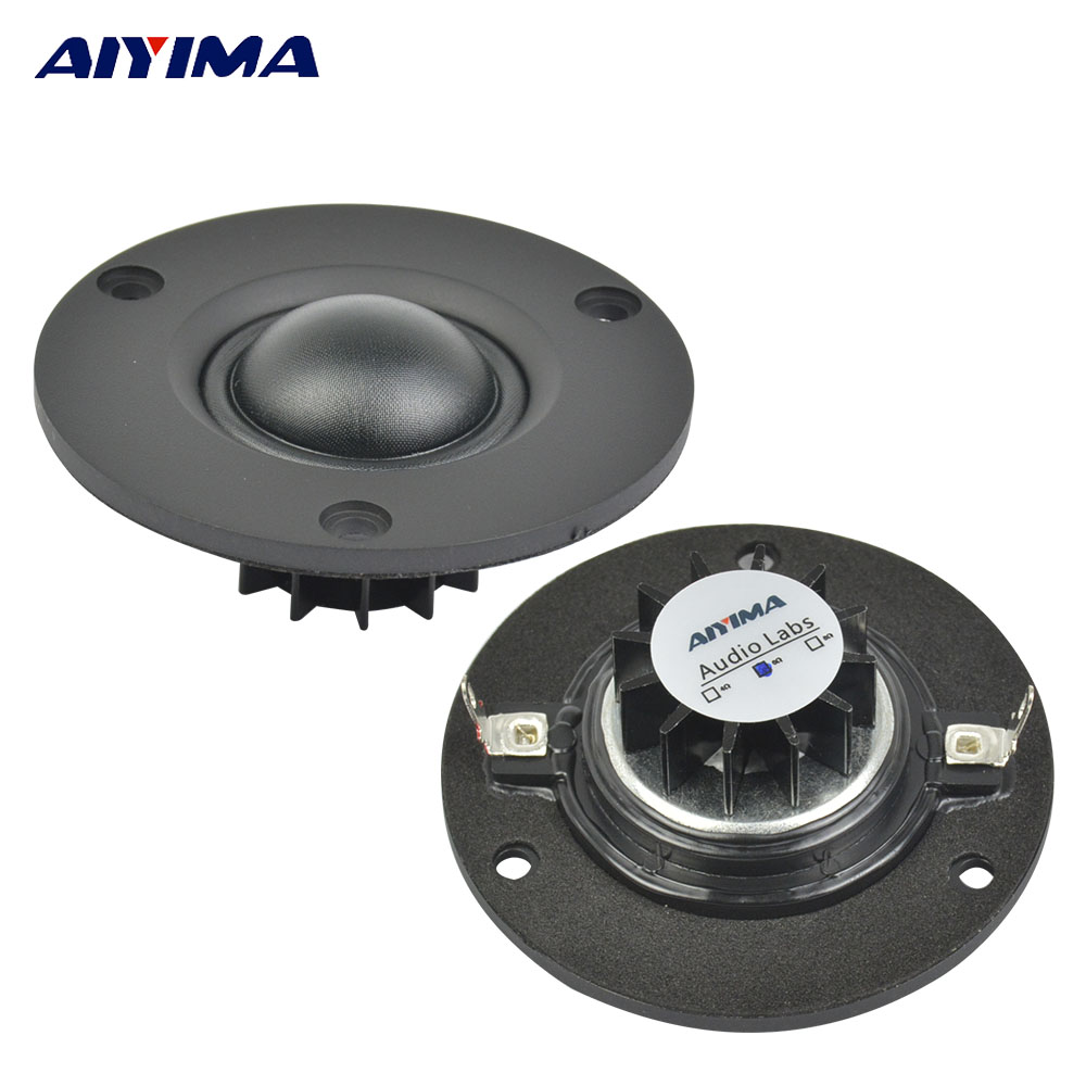 AIYIMA 1Pc Audio Tweeter Speaker 2.5Inch 15W 6Ohm 25Core Silk Film Hifi Loudspeakers Full Range Rubidium Magnetic Speakers