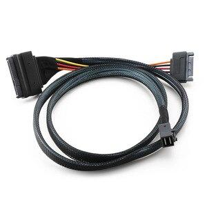 Image 4 - ミニ sas 36 1080P HD8643 ミニ SAS 8639 + 15P 電源ハードドライブのデータケーブル