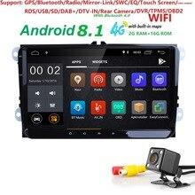Hizpo 1024*600 2 din Android 8,1 автомобиль без DVD радио gps для VW Passat Estate/седан/универсал/Allfrack/CC мужские поло 1080 P SWC TPMS 4 г