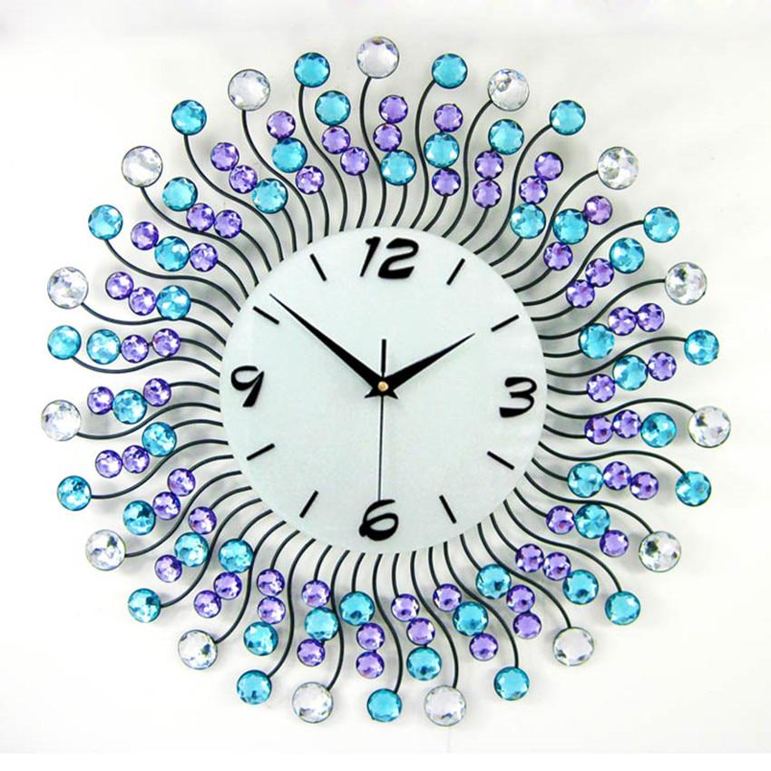 Brillante decoración del hogar relojes de pared grandes marco de ...